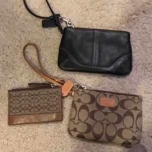 Coach wristlets and coin purse